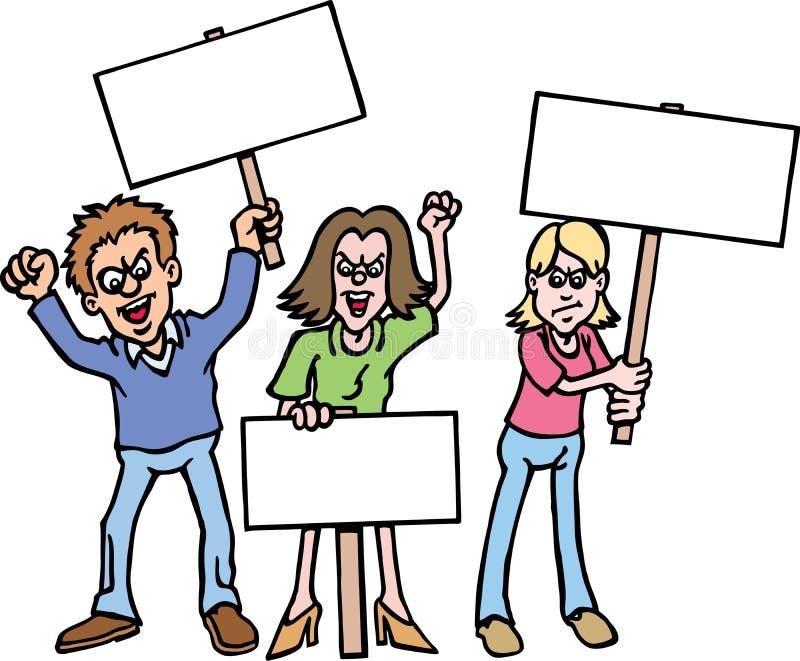 Protestataires illustration libre de droits