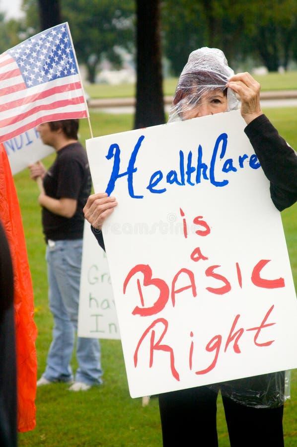 Protestataires de soins de santé photographie stock