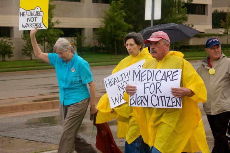 Protestataires de soins de santé image stock