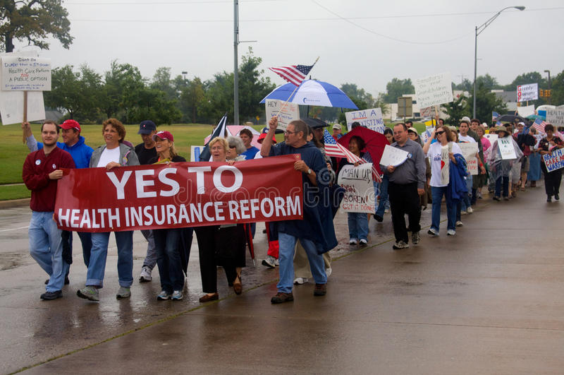 Protestataires de soins de santé images stock