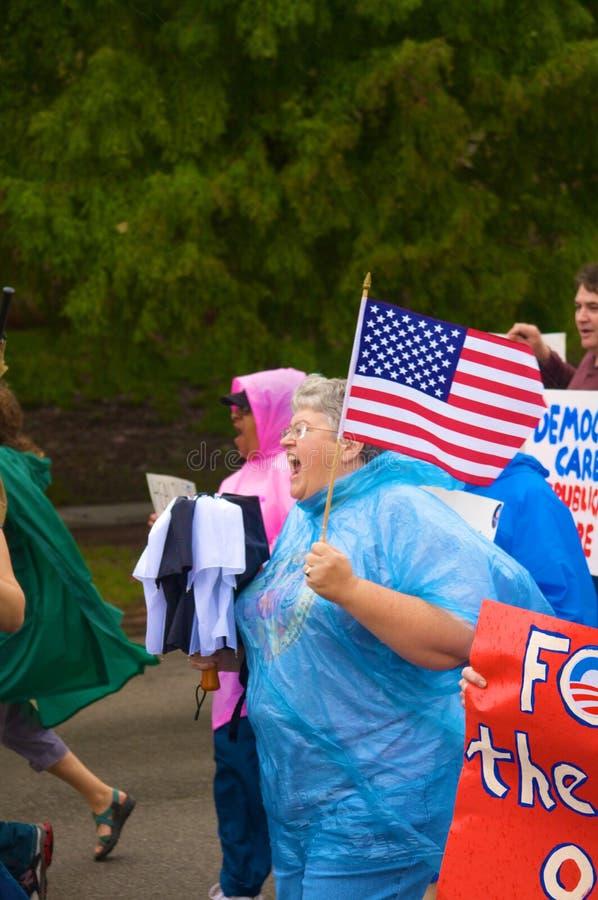 Protestataires de soins de santé photo stock