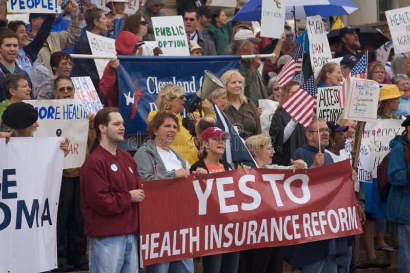 Protestataires de soins de santé images libres de droits