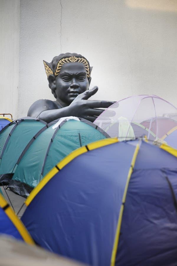 Protestataires de tente photographie stock libre de droits