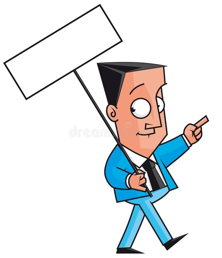Protestateur d'homme d'affaires illustration de vecteur