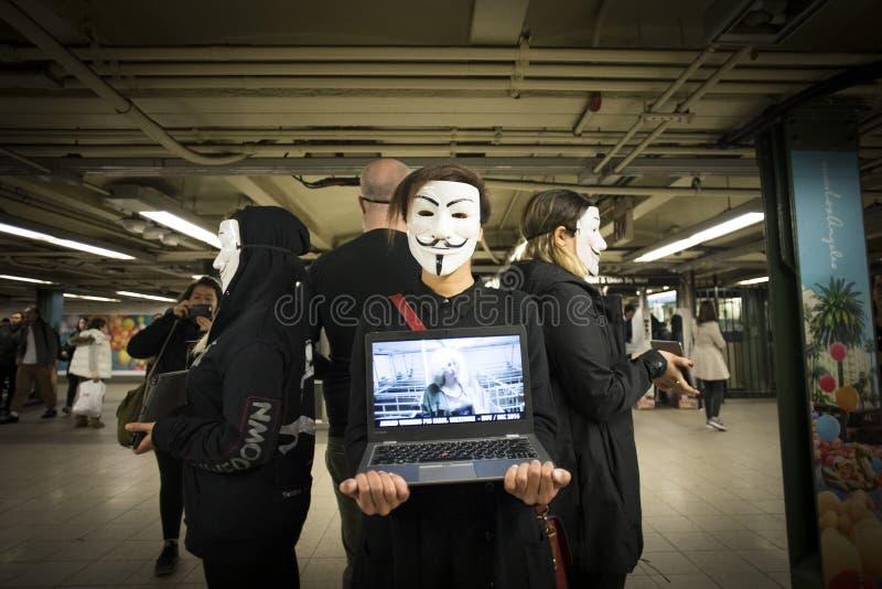 Protestateurs de Peta photo stock