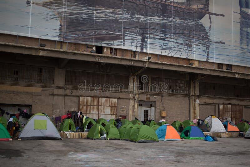 Protestation à Athènes image stock