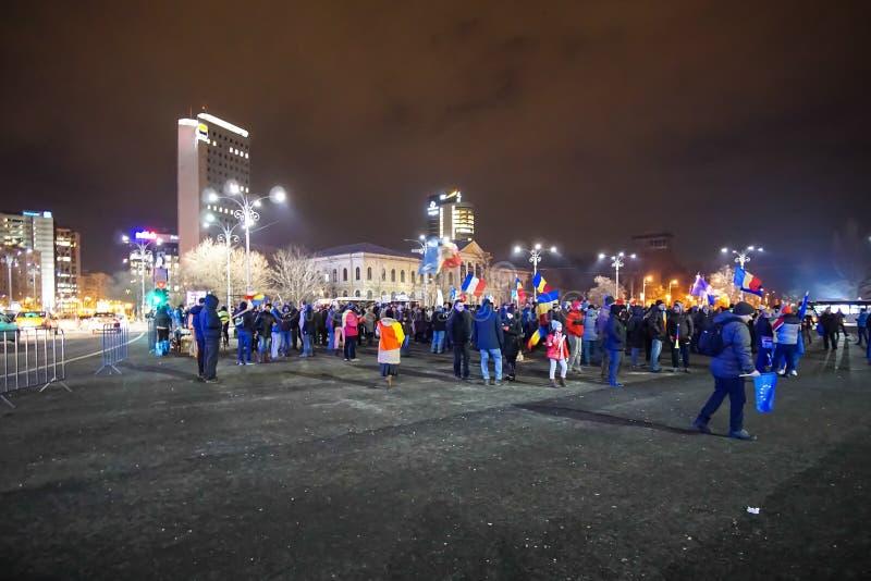 Protestation à Bucarest, Roumanie photo stock