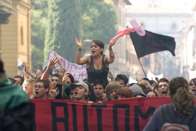 Protestation à Florence photographie stock