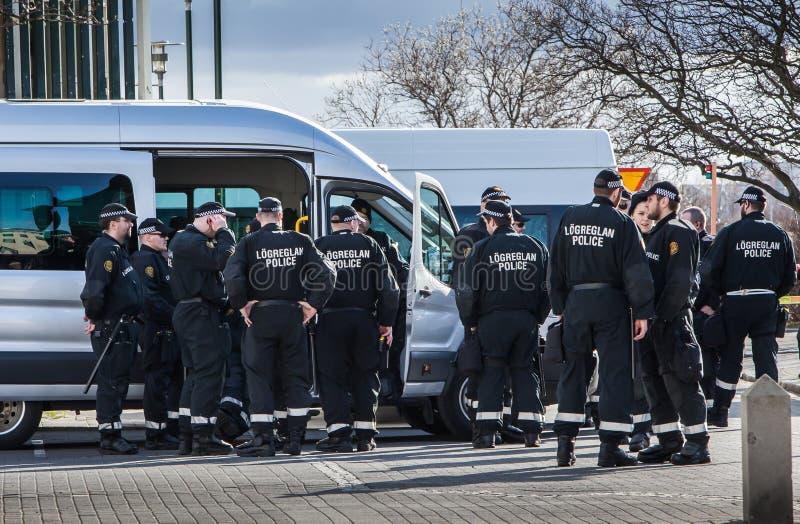 Protestation à Reykjavik Islande photos stock