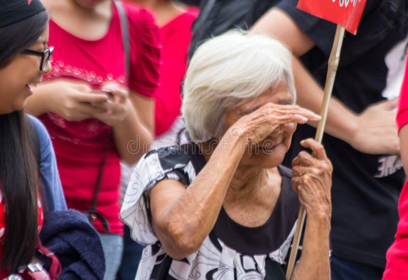 Protestation anti-gouvernement pendant la 150th date de naissance d'Andres Bonifacio photos stock