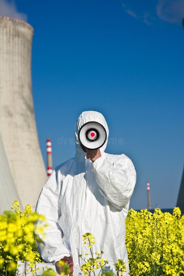 Protestation d'énergie nucléaire image stock