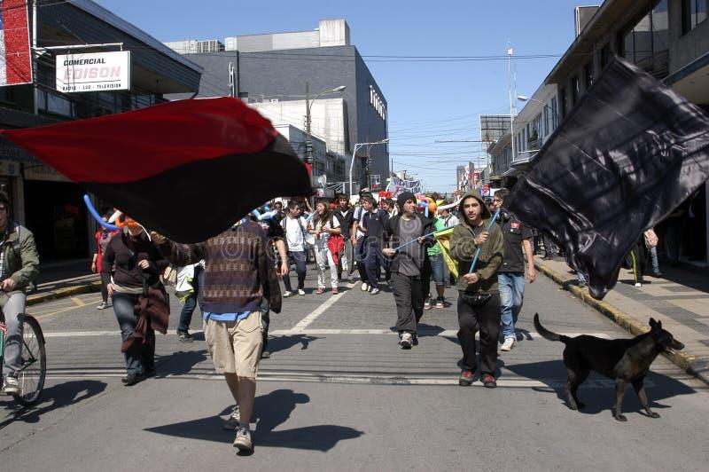 Protestation d'étudiant au Chili image stock
