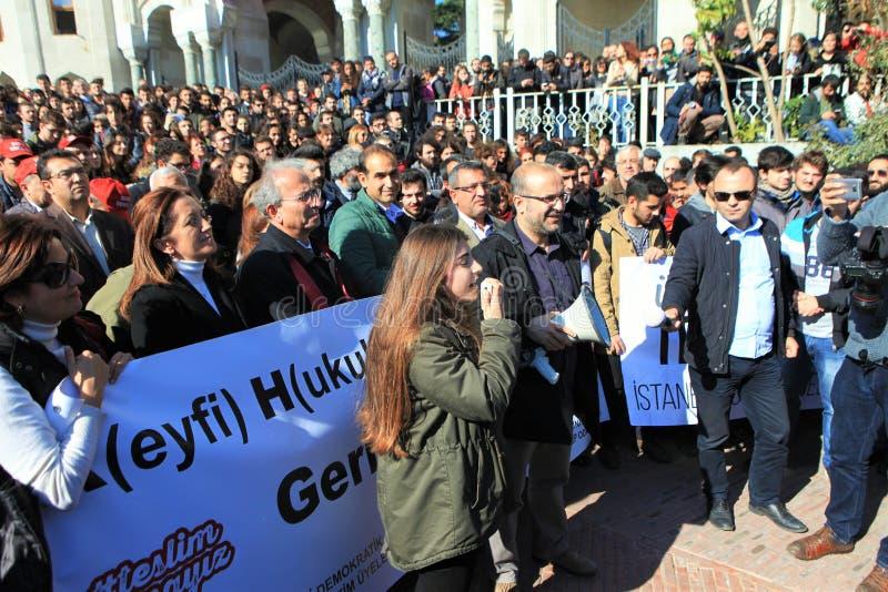 Protestation d'universitaires en Turquie photo stock