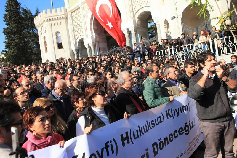 Protestation d'universitaires en Turquie image stock