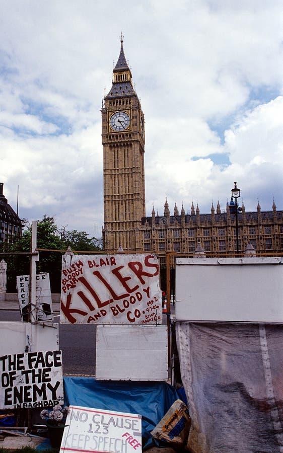 Protestation de guerre. photographie stock libre de droits