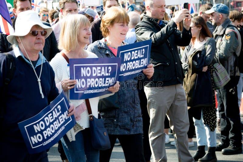 Protestation de jour de Brexit à Londres photographie stock