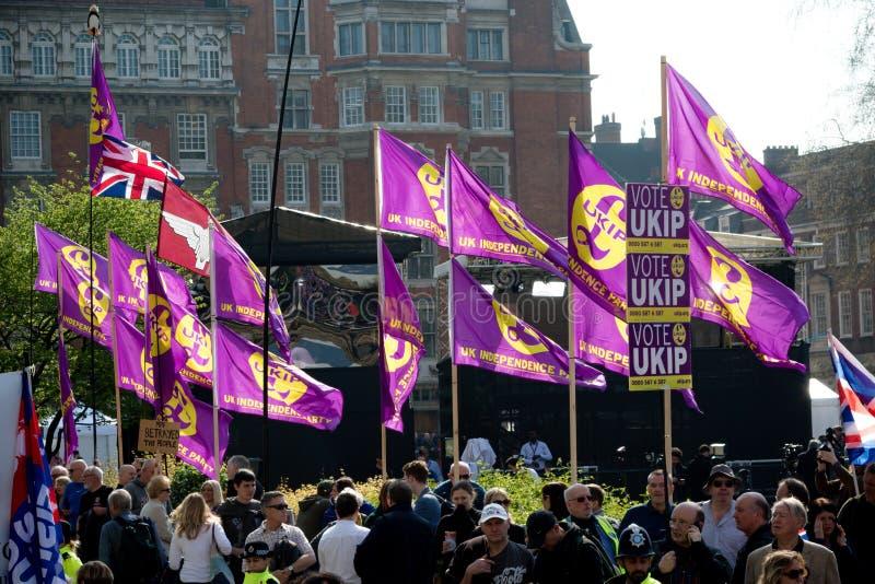Protestation de jour de Brexit à Londres photos libres de droits