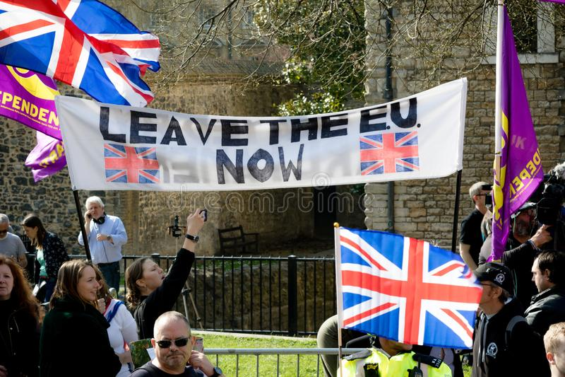 Protestation de jour de Brexit à Londres photo libre de droits