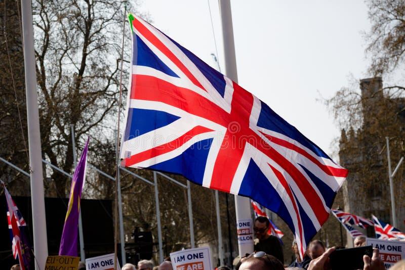 Protestation de jour de Brexit à Londres images libres de droits