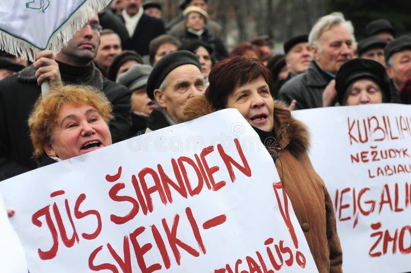 Protestation de pensionnés images libres de droits