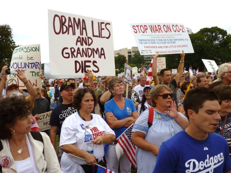 Protestation de réforme de soins de santé image libre de droits