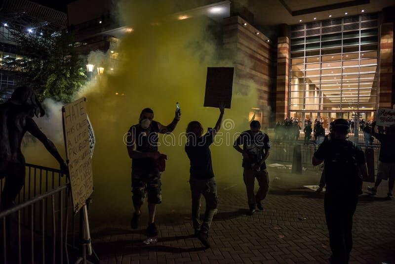 Protestation de rassemblement d'atout de Phoenix photos libres de droits