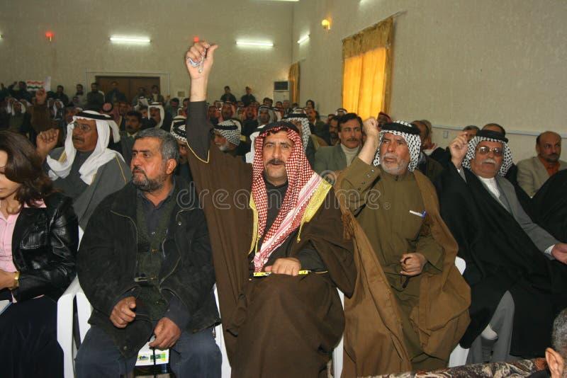 Protestation en Irak photo libre de droits