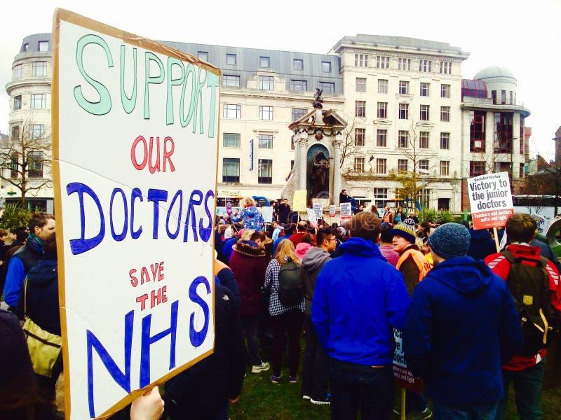 Protestation junior de médecins photo libre de droits
