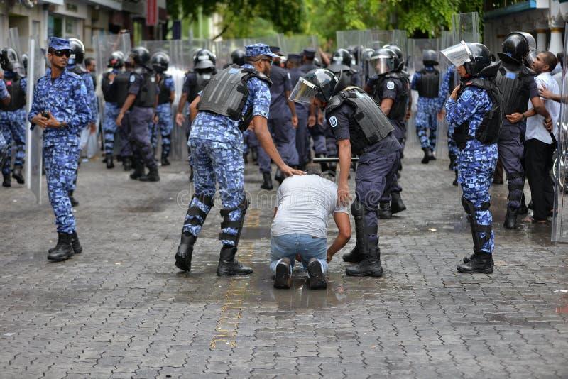 Protestation Maldives photographie stock libre de droits
