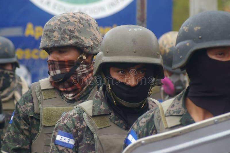 Protestation march contre la réélection de Juan Orlando Hernandez Honduras le 21 janvier 2018 8 images libres de droits
