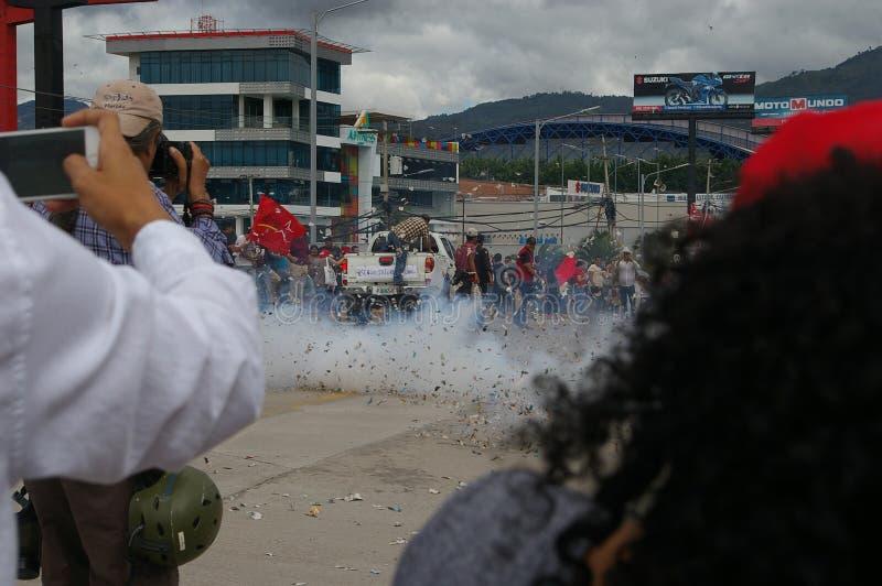 Protestation march Tegucigalpa le Honduras en novembre 2017 6 images libres de droits