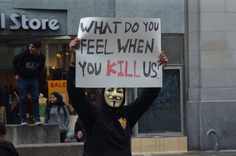 Protestation noire de matière des vies photo libre de droits