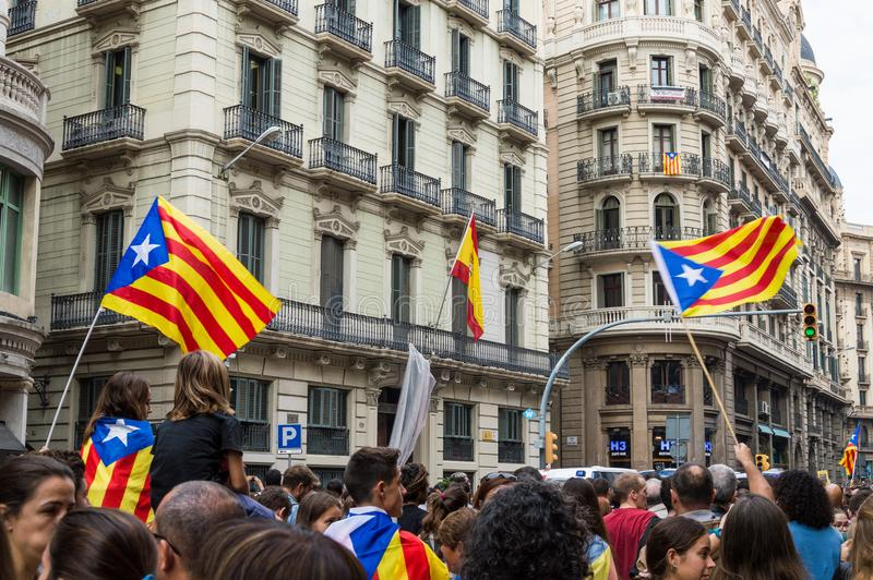 Protestation Pacifique, Barcelone photos stock