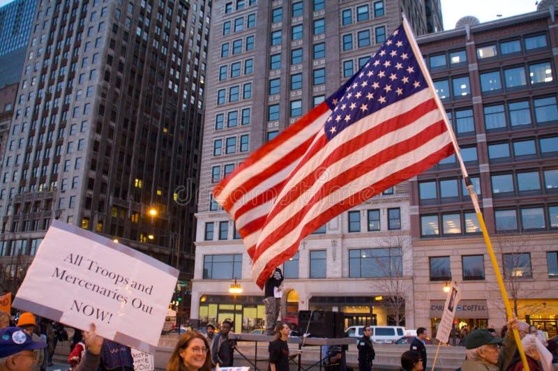 Protestation pacifiste image libre de droits