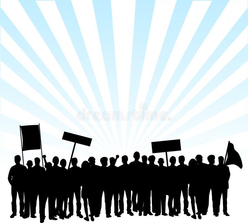 Protestation sur les rues illustration de vecteur