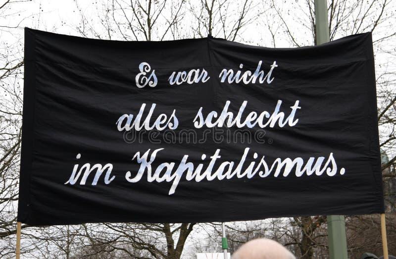 Protestations contre la crise financière image libre de droits