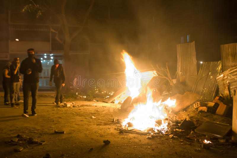 Protestations de Velezuelan photographie stock
