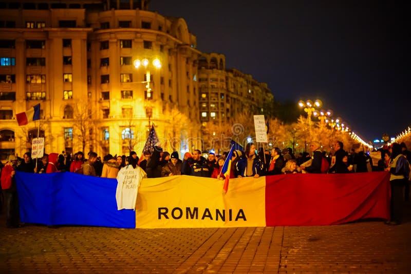 Protestations roumaines, Bucarest, Roumanie image libre de droits