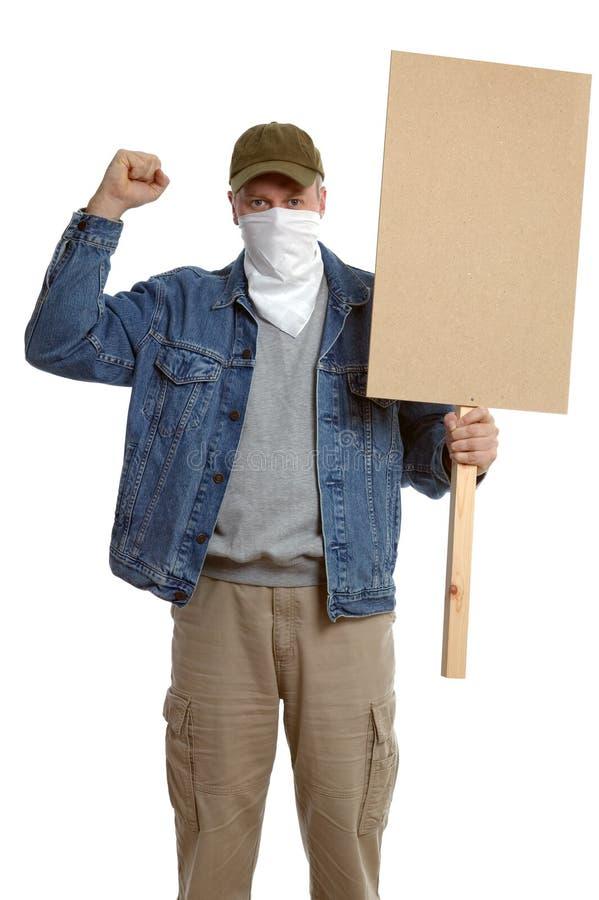 Protestatore mascherato fotografie stock