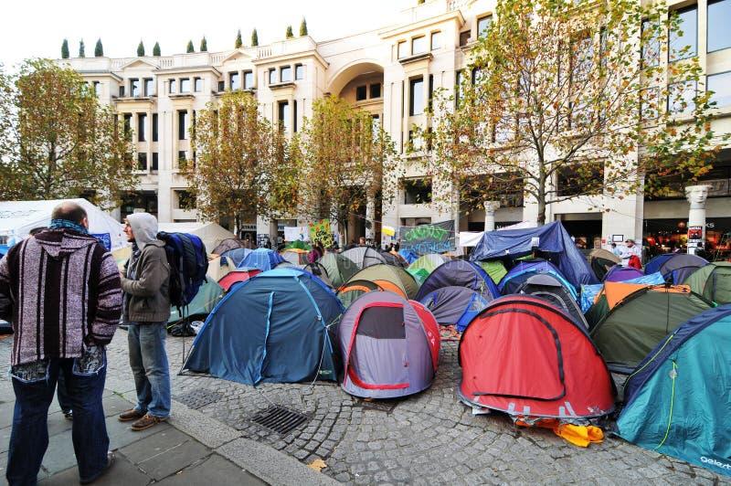 Protestatori di Londra fotografia stock libera da diritti