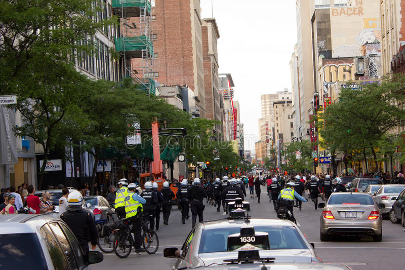 Download Protestators in Montreal editorial image. Image of social - 25178695