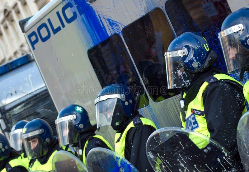 protestdeltagare arkivbild