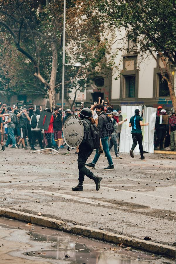 Proteste in Chile stockfotografie