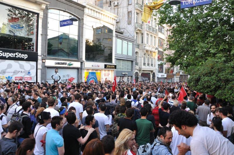 Proteste del parco di Gezi a Costantinopoli immagine stock