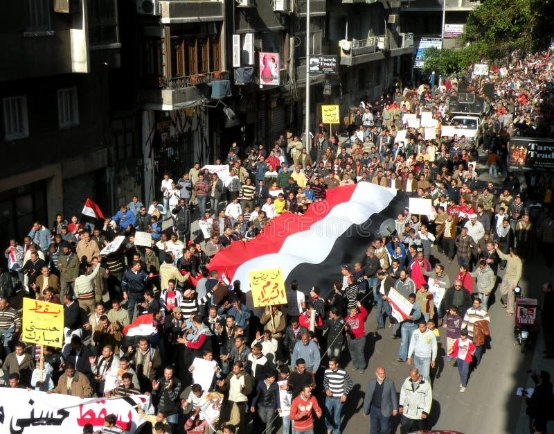 Proteste dell'Egitto fotografie stock