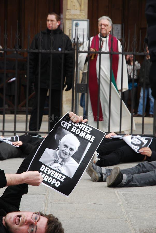 Download Proteste Des Agains Le Pape à Paris Photographie éditorial - Image du configuration, benedict: 8651337