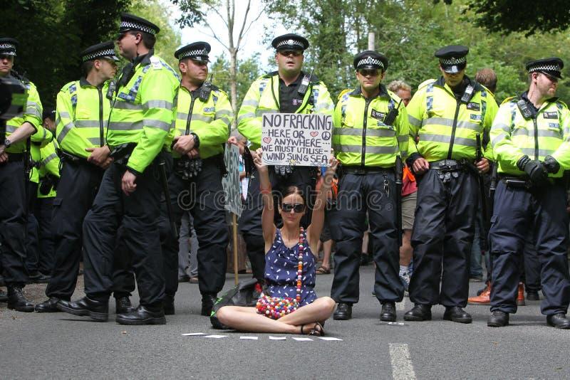Proteste Di Balcombe Fracking Fotografia Editoriale