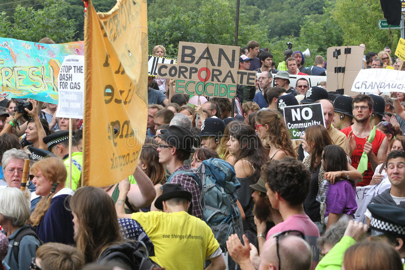 Proteste Di Balcombe Fracking Fotografia Stock Editoriale