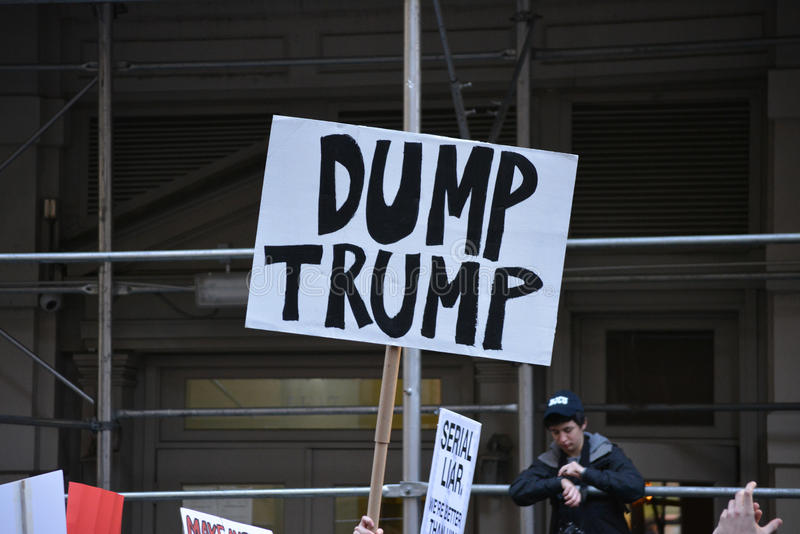 Proteste di Trump fotografie stock