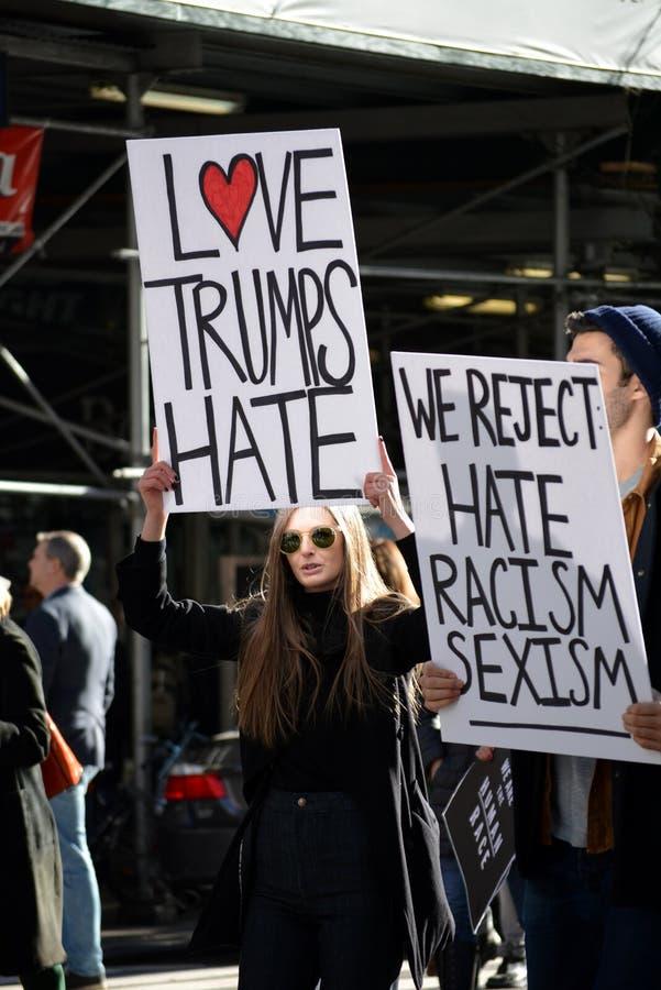 Proteste di Trump immagine stock